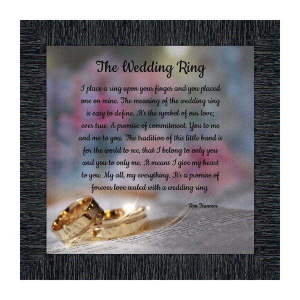 The Wedding Ring, Wedding Gift Bride or Groom Picture Frame, 10x10 8709