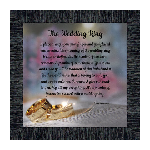 The Wedding Ring, Gift for Your True Love, Wedding Picture Frame, 10x10 8709