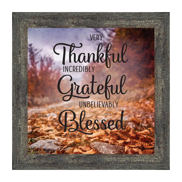 Very Thankful, Fall Decorations Inspirational Quotes, Grateful Decor, 10x10 8711