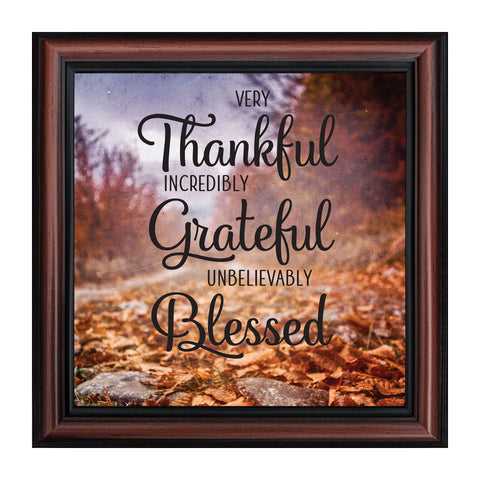 Very Thankful, Inspirational Quotes, Grateful Decor, 10x10 8711