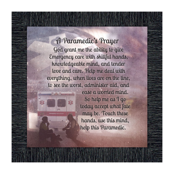 A Paramedic's Prayer, Great Gifts for Emergency Medical Technician, Emergency Vehicle Themed Art, 10x10 8713