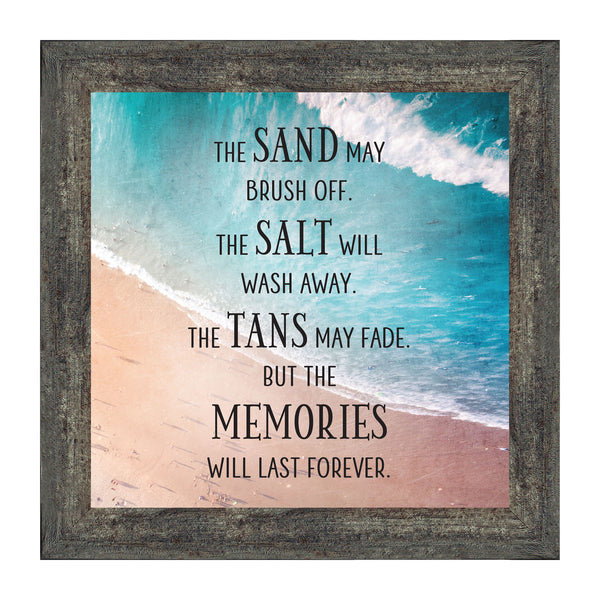 Memories Last Forever, Ocean Decor, Family Vacation Picture Frame, 10x10 8714