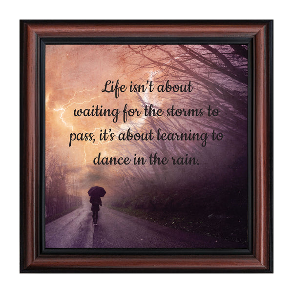 Dancing in The Rain, Encouragement Gifts, Motivational Wall Art, 10x10 8717
