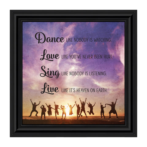 Dance Like No One is Watching, Encouraging Gifts for Women, Motivational Wall Art, 10x10 8721