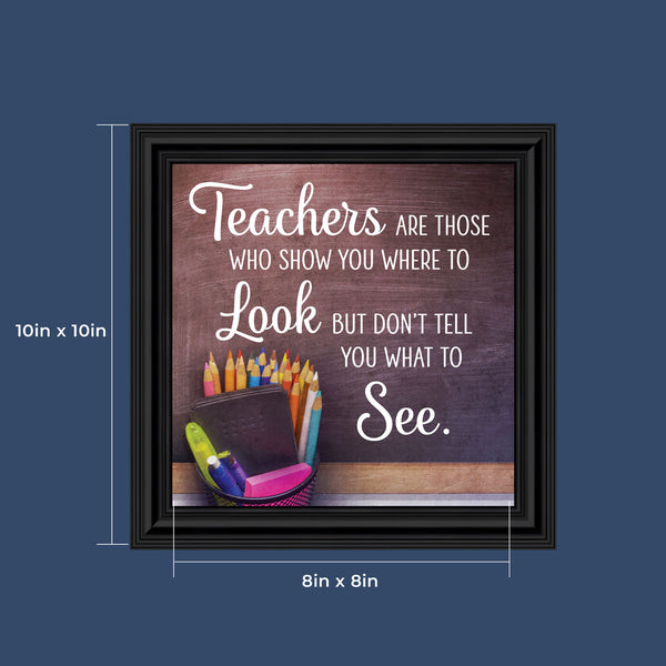Thank You Teacher Gifts, Elementary Teacher Appreciation, Nanny, Babysitter, Pre-School or Daycare Worker Gift, 10x10, 8724