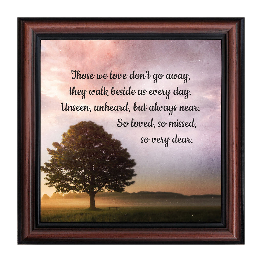 Those We Love Sympathy Gift, Memorial Gift or Bereavement Gift for the Loss of a Mom or Dad or a Loved One, Picture Frame, 10x10, 8725