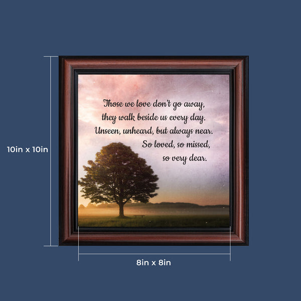 Sympathy Gift Picture Frames, Memorial Gifts for your Condolence Gift Baskets and Sympathy Cards, Bereavement Gifts, In Memory of Loved One, Those We Love Framed Home Décor, 8725