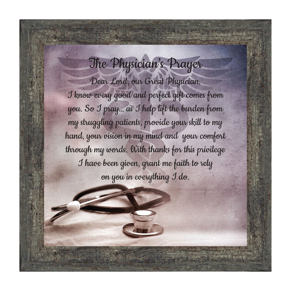 Doctor Gifts, Gifts for Medical School Graduation, Doctor Thank You Gift, Gifts for Doctors Office, Medical Doctor Gifts for Women or Doctor Gifts for Men, A Physician Prayer Framed Poem, 8729