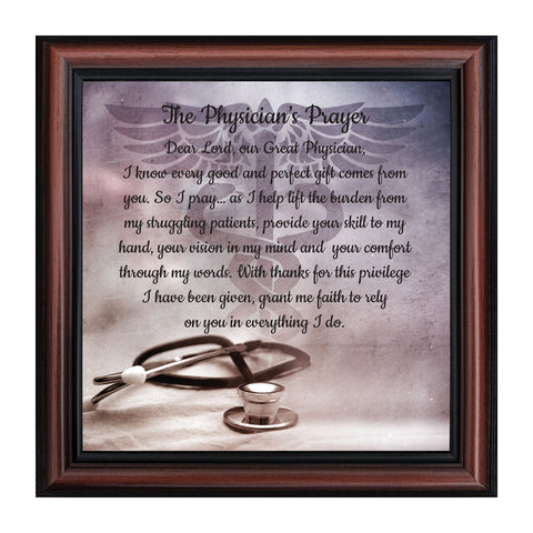 A Physician's Prayer, Gift for a Doctor, Medical School Graduation Gift, 8x8,, 8729