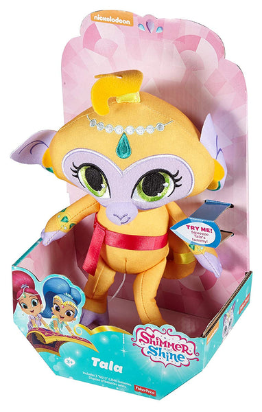 Fisher Price Shimmer and Shine Plush Tala Monkey Talks and Sings