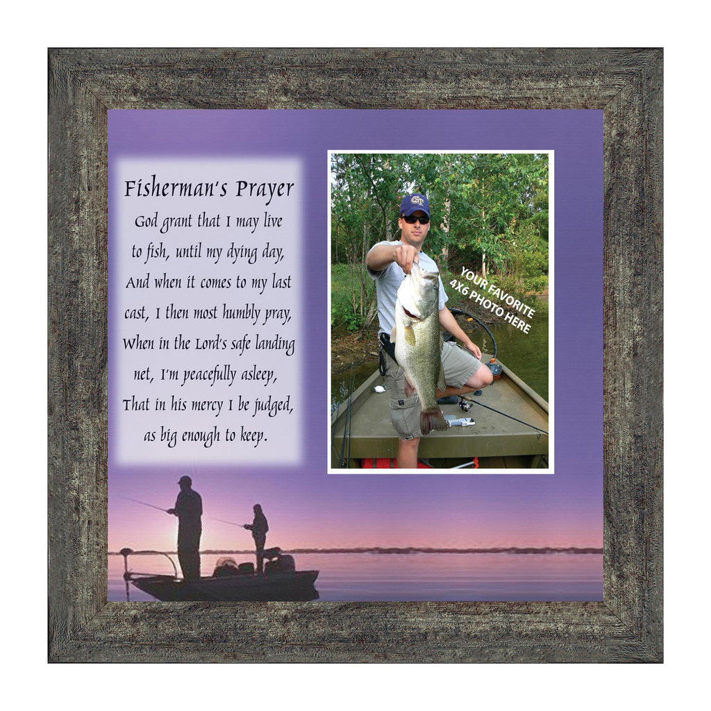 Fisherman's Prayer, Personalized Fishermen Gifts for the One You Love, Picture Frame 10X10 9701
