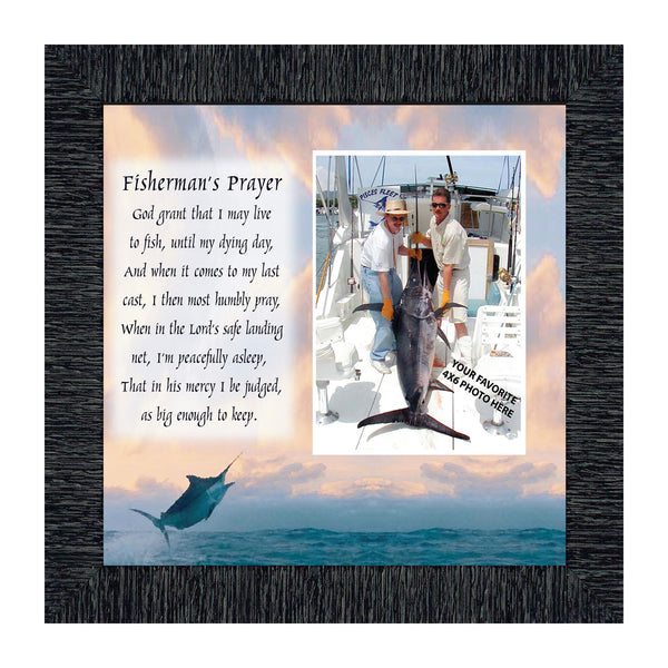 Deep Sea Fisherman's Prayer, Fisherman's Prayer, Fishing Gifts,  Beach, Boating or Fishing Decor, Personalized Picture Frame, 10X10 9702