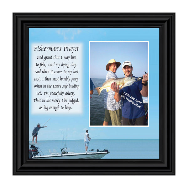 Fisherman's Prayer, Personalized Pictures Frame Fishermen Gifts,  Fishing decor 10X10 9703