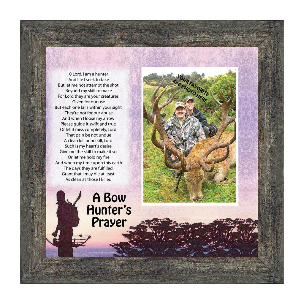 Bow Hunters Prayer, Hunting Theme Personalized Picture Frame, 10 X10 9704
