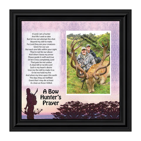Bow Hunters Prayer, Hunting, Gaming with Crossbow Personalized Picture Frame, 10 X10 9704