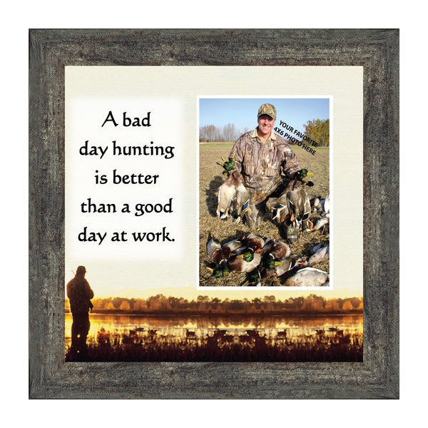 Bird Hunter Saying. Hunting Theme Personalized Picture Frame, 10X10 9705
