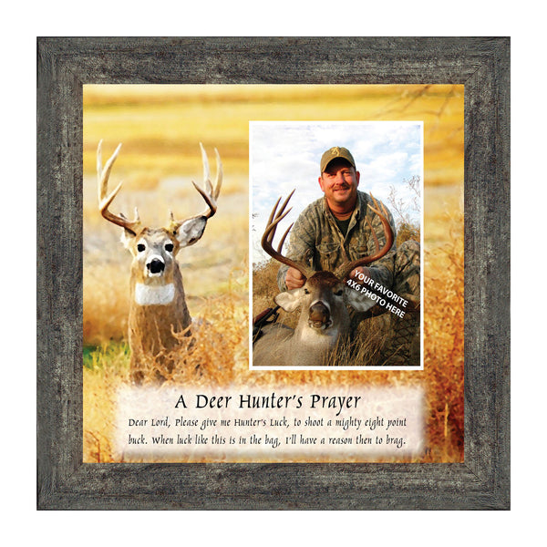 A Deer Hunter's Prayer, Hunting Personalized Picture Frame, 8x8, 9707