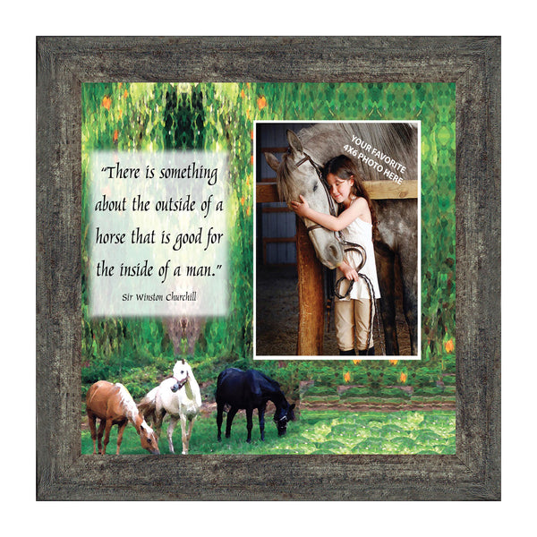A Horse Picture Frame, Personalized Picture Frame for Horse Lovers, 10X10 9708