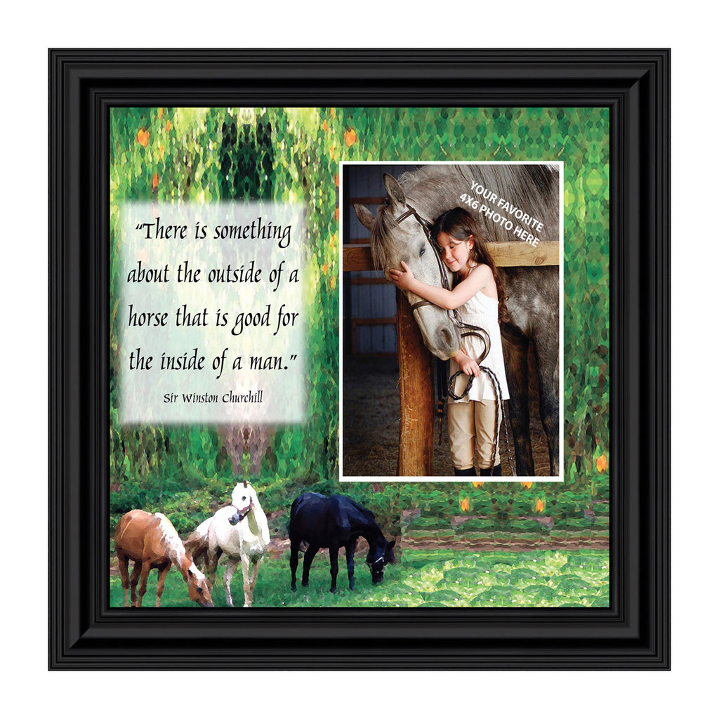 A Horse Picture Frame, Horse Lovers, Personalized Picture Frame 8x8, 9708