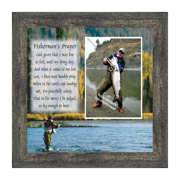 Fly Fishermen Pray, Personalized Picture Frame decorations for Home and Office, 10X10 9709