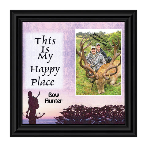 Bow Hunters Happy Place, Hunting, Gaming with Crossbow Personalized Picture Frame, 10 X10 9725