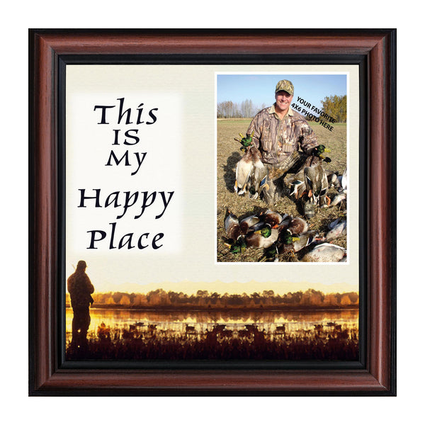 Bird Hunter Happy Place, Hunting  Fowl Personalized Picture Frame, 10X10 9726