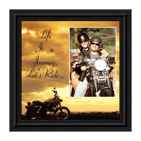 Harley Davidson Gifts for Men and Women, Classic Harley Picture Frame, Harley Davidson Wedding Gifts, Biker Motorcycle Accessories for Men, Unique Motorcycle Wall Decor, 9750
