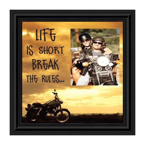 Life is Short, Harley Davidson Motorcycle, Personalized Picture 10X10 9762