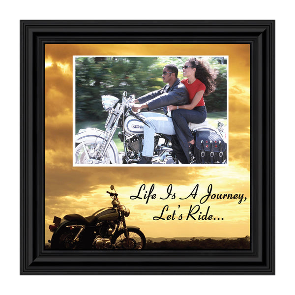 Harley Davidson Motorcycle, Picture Frame, Landscape, Let's Ride Sky Personalized 9764