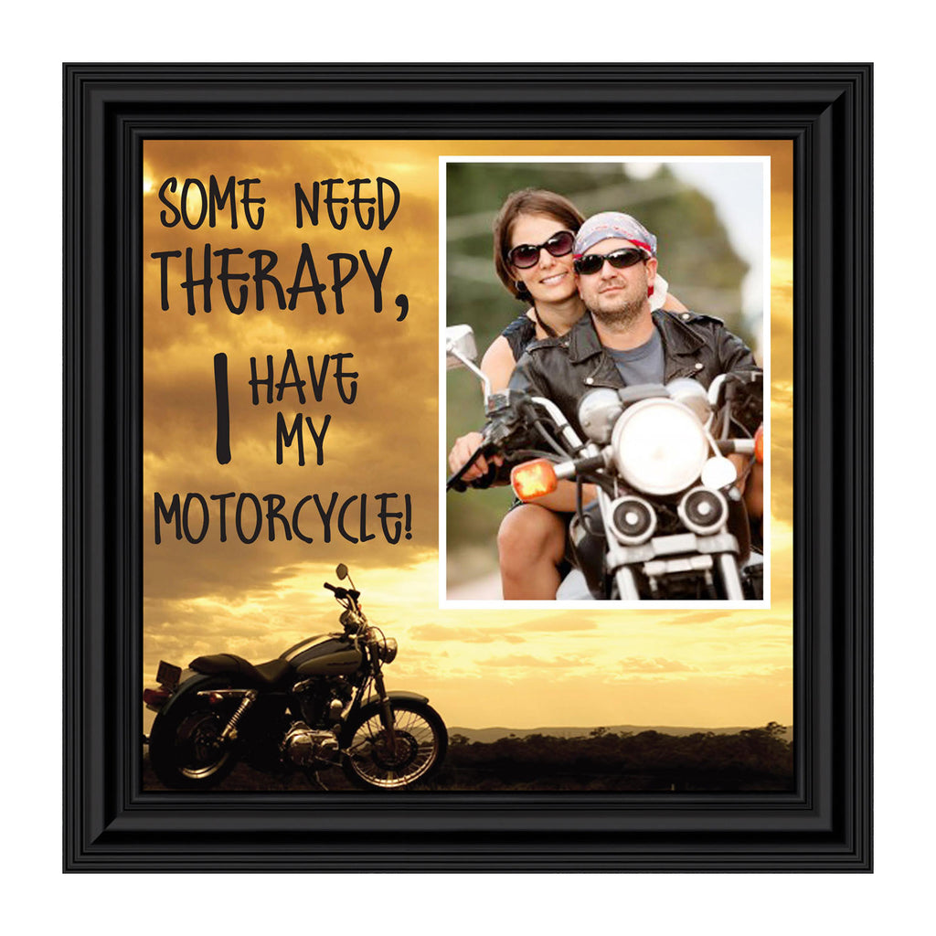 Some Need Therapy, Personalized Harley Davidson Motorcycle Picture, 10X10 9769