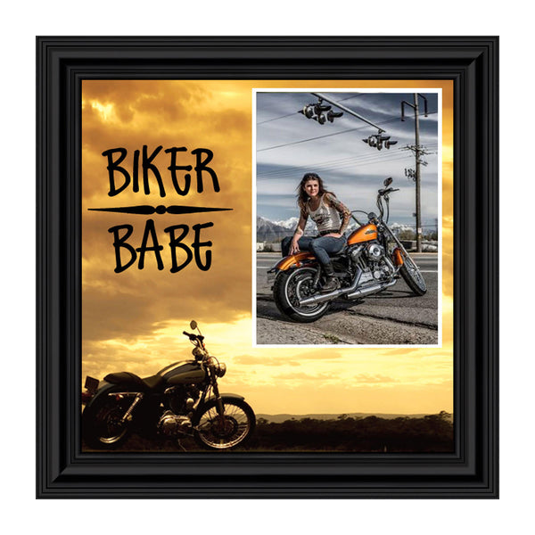 Biker Babe, Personalized Harley Davidson Motorcycle, 10X10 9772