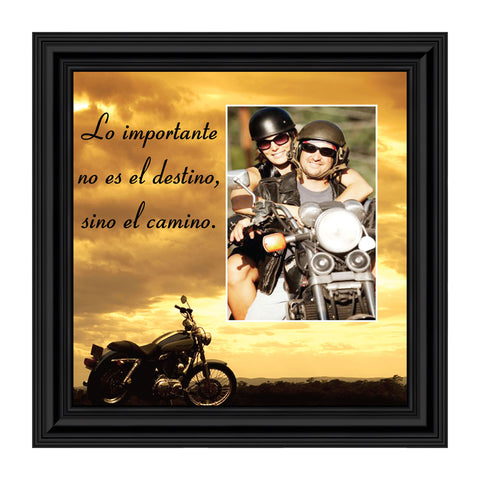 It's Not The Destination (Spanish Version), Harley Davidson Motorcycle, 10x10 9781