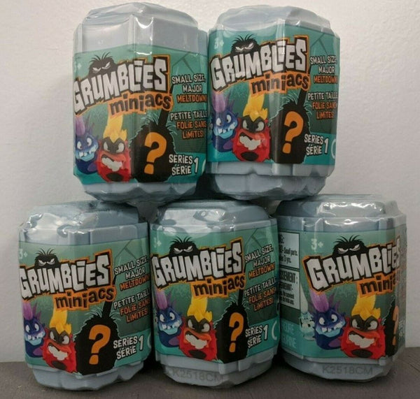 Grumblies Miniacs Mystery 5 Pack of Mystery Characters