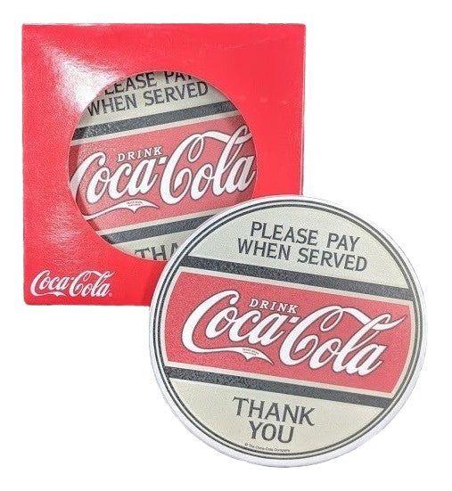 Coca-Cola Ceramic Coke Coaster 4 Piece Set