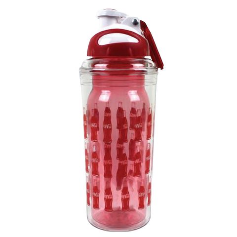 Coca-Cola 20 oz Double Wall Water Bottle with Coke Logo Officially Licensed – BPA Free