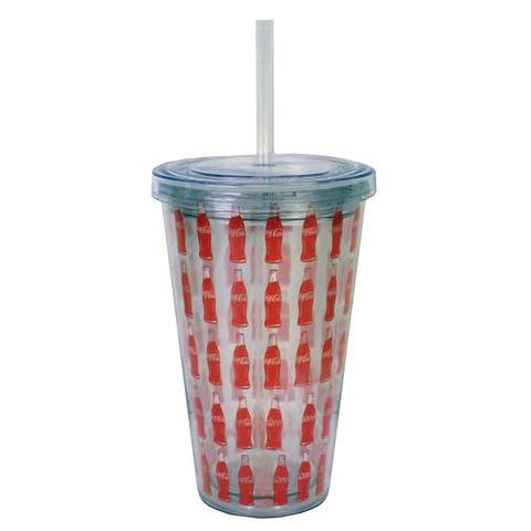 Coca-Cola 17.5 oz Double Wall Tumbler with Coke Officially Licensed Logo – BPA Free