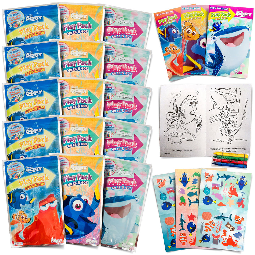 - Set Of 15 Finding Dory Or Super Hero, Fun Party Favors Coloring
