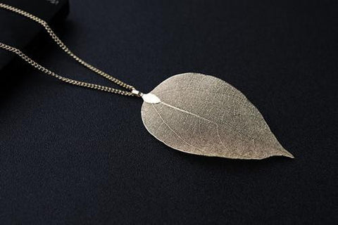 Vintage Natural Leave Necklace