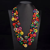 Vintage Handmade Multi-Color Round Beads Necklace