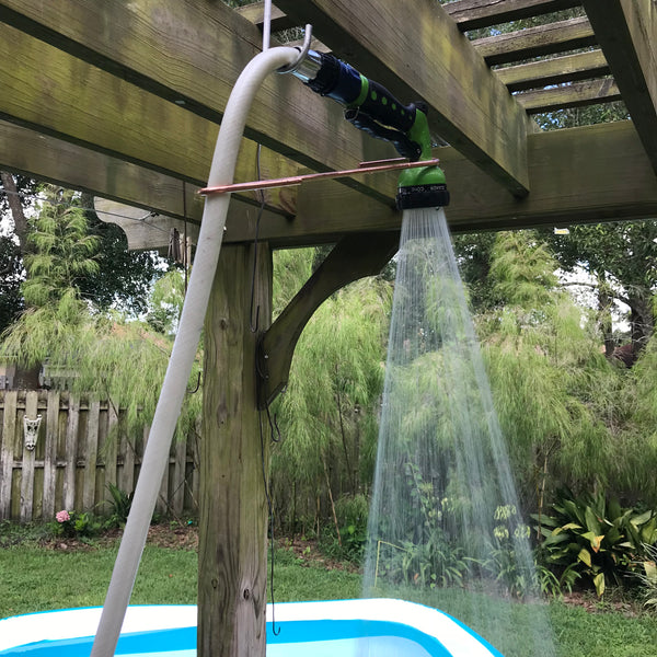 H2OHook Garden Hose Shower Adapter - Mr. Dirtfarmer