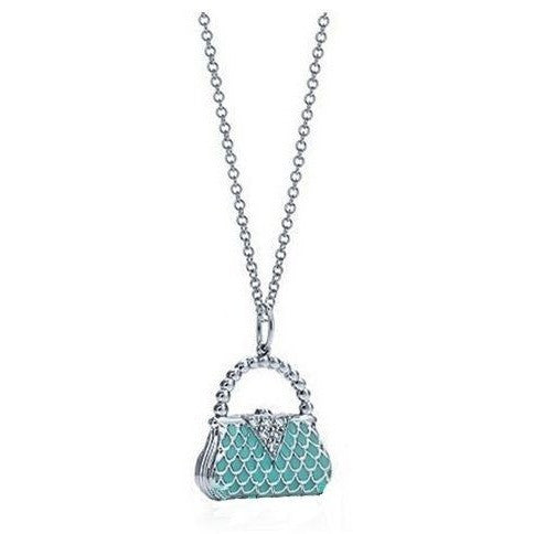 925 Silver Purse Charm Tiffany Designer Necklace - Mee-Mii