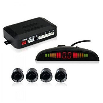 Esky LED Display Car Reverse Radar System with 4 Parking Sensors - Mee-Mii