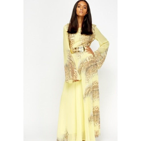 Animal Print Maxi Dress Gown - Mee-Mii