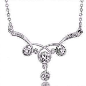 9K Gold Filled AAA CZ Necklace with Pendant