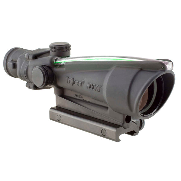 Trijicon Acog 3.5x35 Scope, Dual Illuminated Green Chevron Bac .308 Flattop Reticle W- Ta51 Mount  Optic