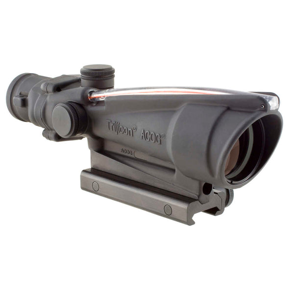 Trijicon Acog 3.5x35 Scope, Dual Illuminated Red Chevron Bac .308 Flattop Reticle W- Ta51 Mount Optic