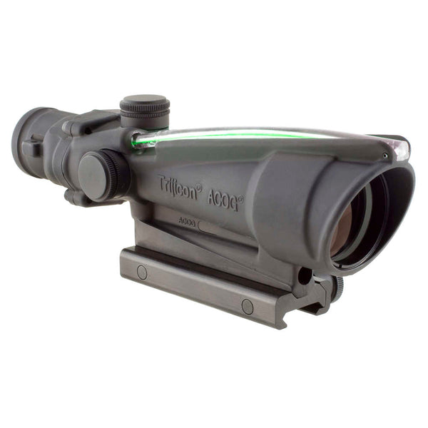Trijicon Acog 3.5x35 Scope, Dual Illuminated Green Chevron Bac .223 Flattop Reticle W- Ta51 Mount Optic