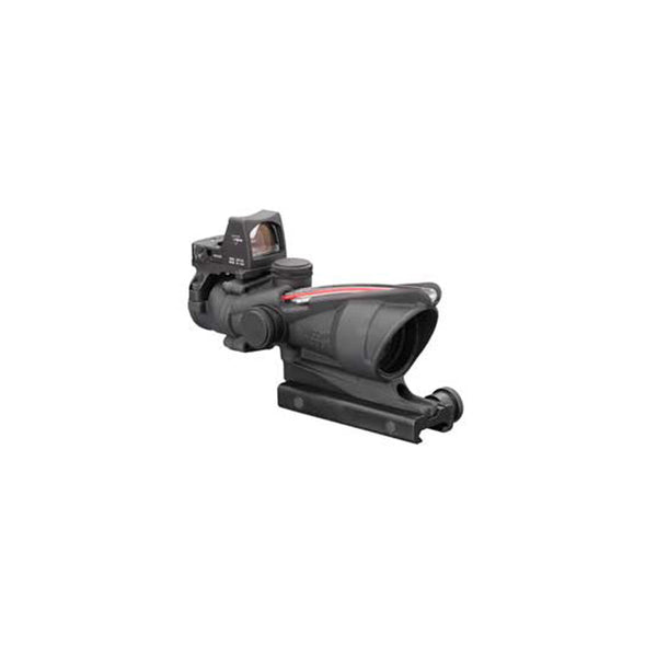 Trijicon ACOG 4x32 Scope, Dual Illuminated Red Chevron .223 Ballistic Reticle, 3.25 MOA RMR Type 2 Sight, and TA51 Mount