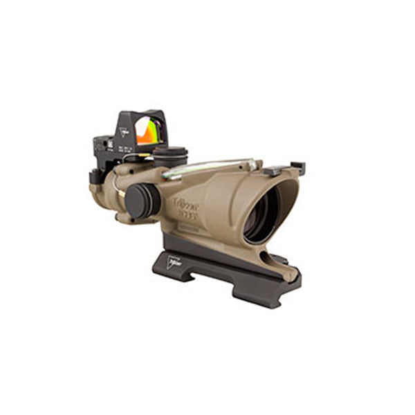 Trijicon Acog 4x32 Flat Dark Earth Scope, Dual Illumination Green Crosshair Reticle W- 3.25 Moa Rmr Type 2 Sight