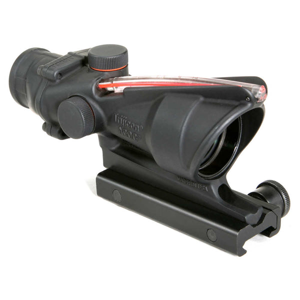 Trijicon ACOG 4x32 Scope, Dual Illuminated Red Chevron .223 Ballistic Reticle w/ TA51 Flattop Mount